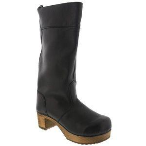 Sanita Black Clog Boots